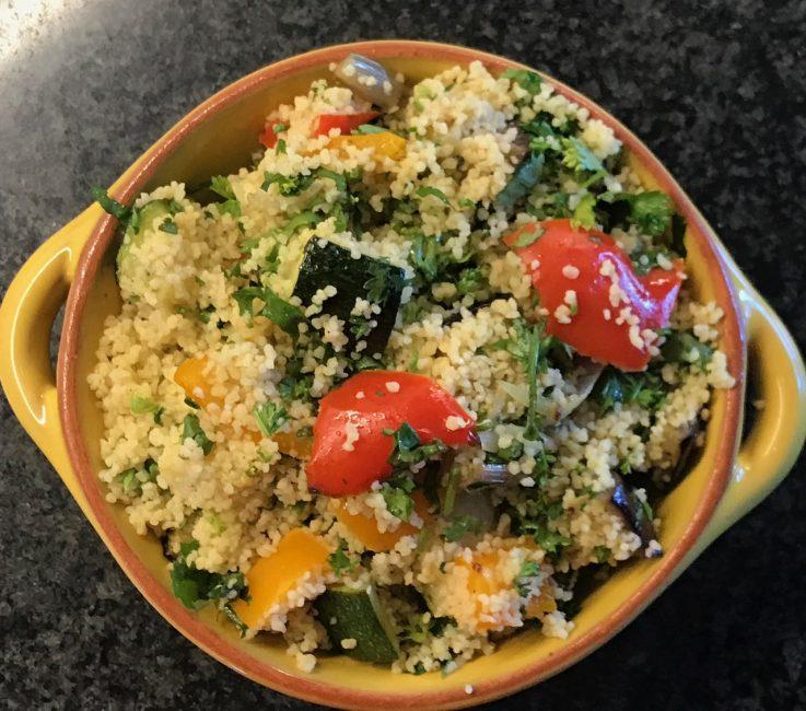 Roasted Mediterranean Vegetables Couscous