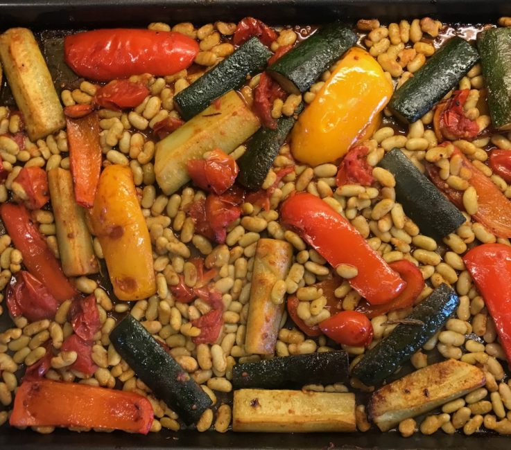 Roasted Vegetables with Beans recipe